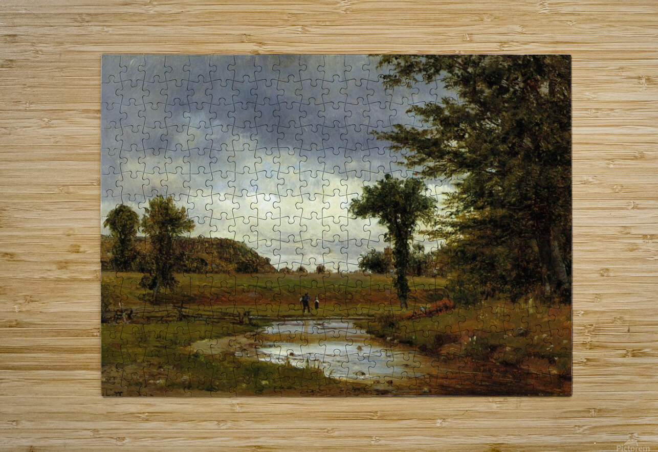 Going to the Village  HD Metal print with Floating Frame on Back