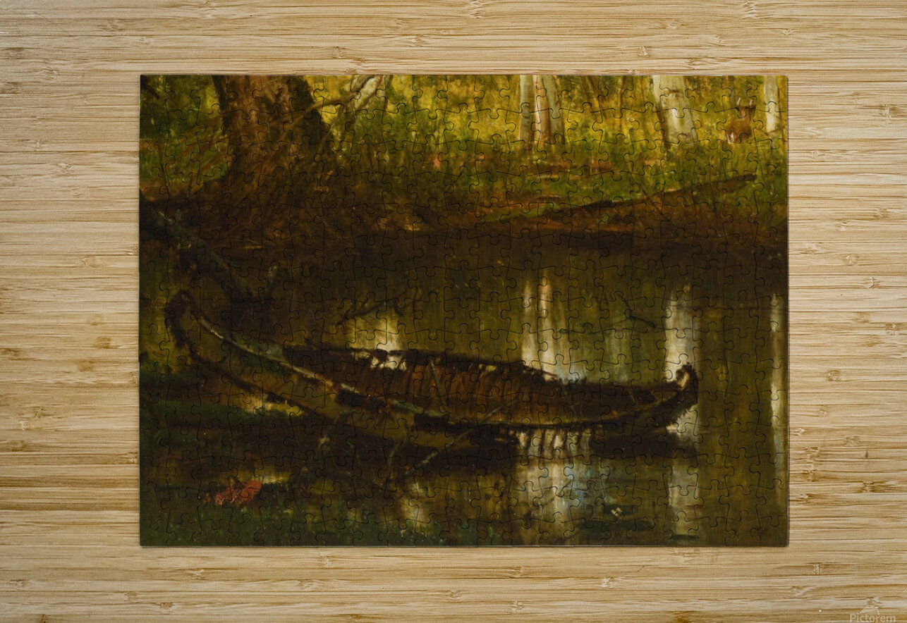 An abandoned boat  HD Metal print with Floating Frame on Back