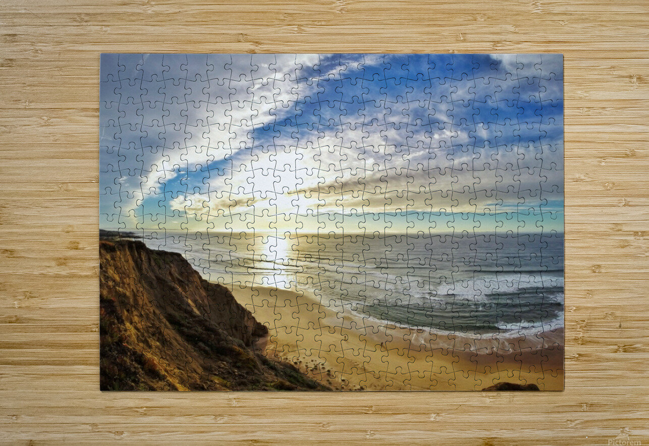 Highway 1   HD Metal print with Floating Frame on Back