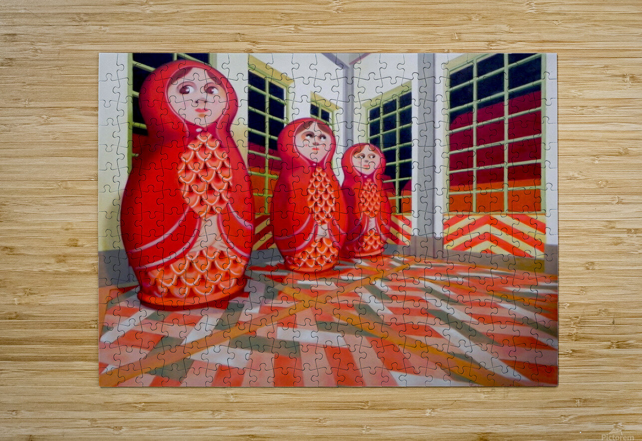 Matryoshka  HD Metal print with Floating Frame on Back