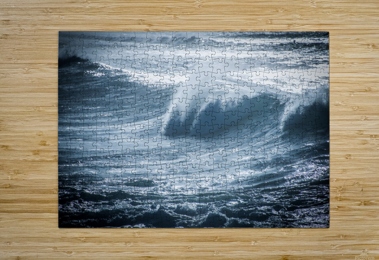 Wave  HD Metal print with Floating Frame on Back