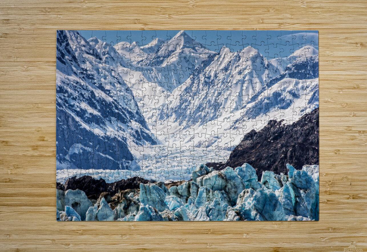 Glacier  HD Metal print with Floating Frame on Back