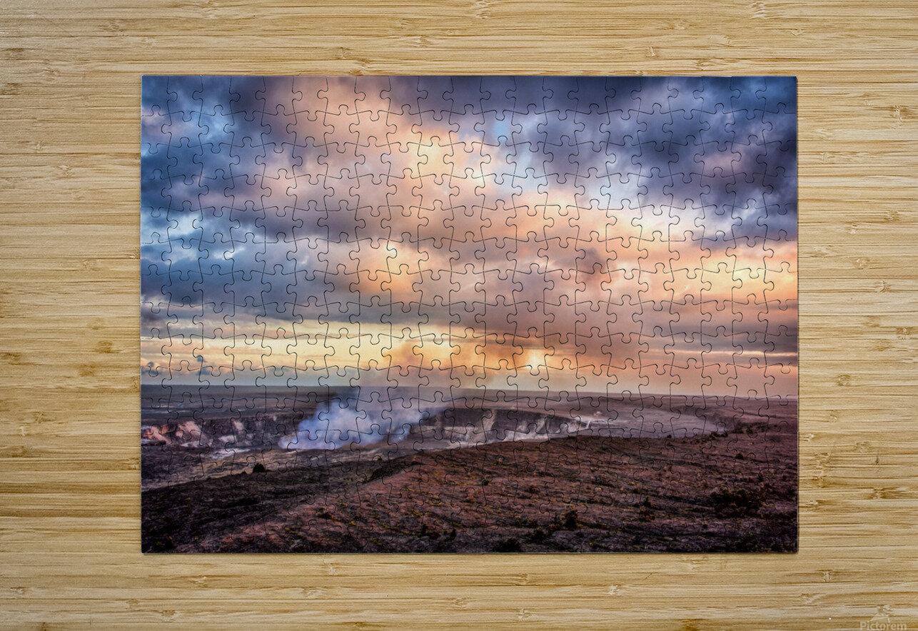 Kilauea  HD Metal print with Floating Frame on Back