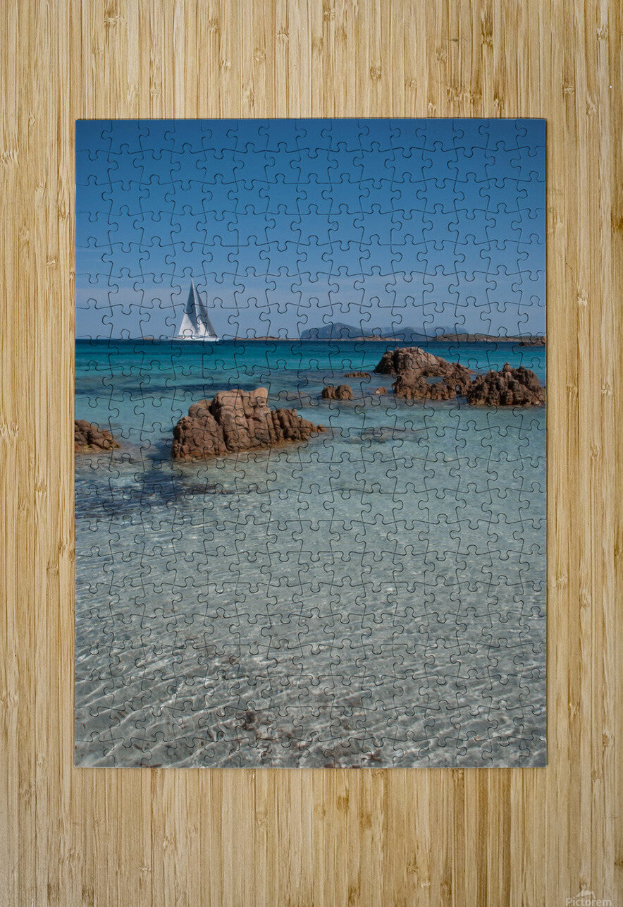 Mediterranean  HD Metal print with Floating Frame on Back