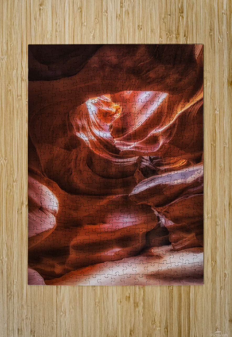 Antelope Canyon 3  HD Metal print with Floating Frame on Back