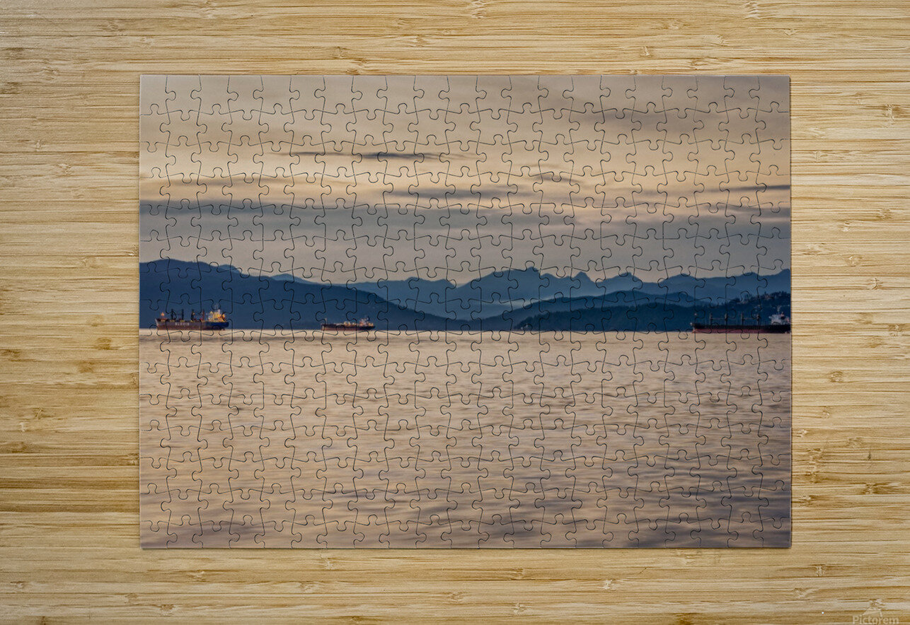 Pacific North West  HD Metal print with Floating Frame on Back