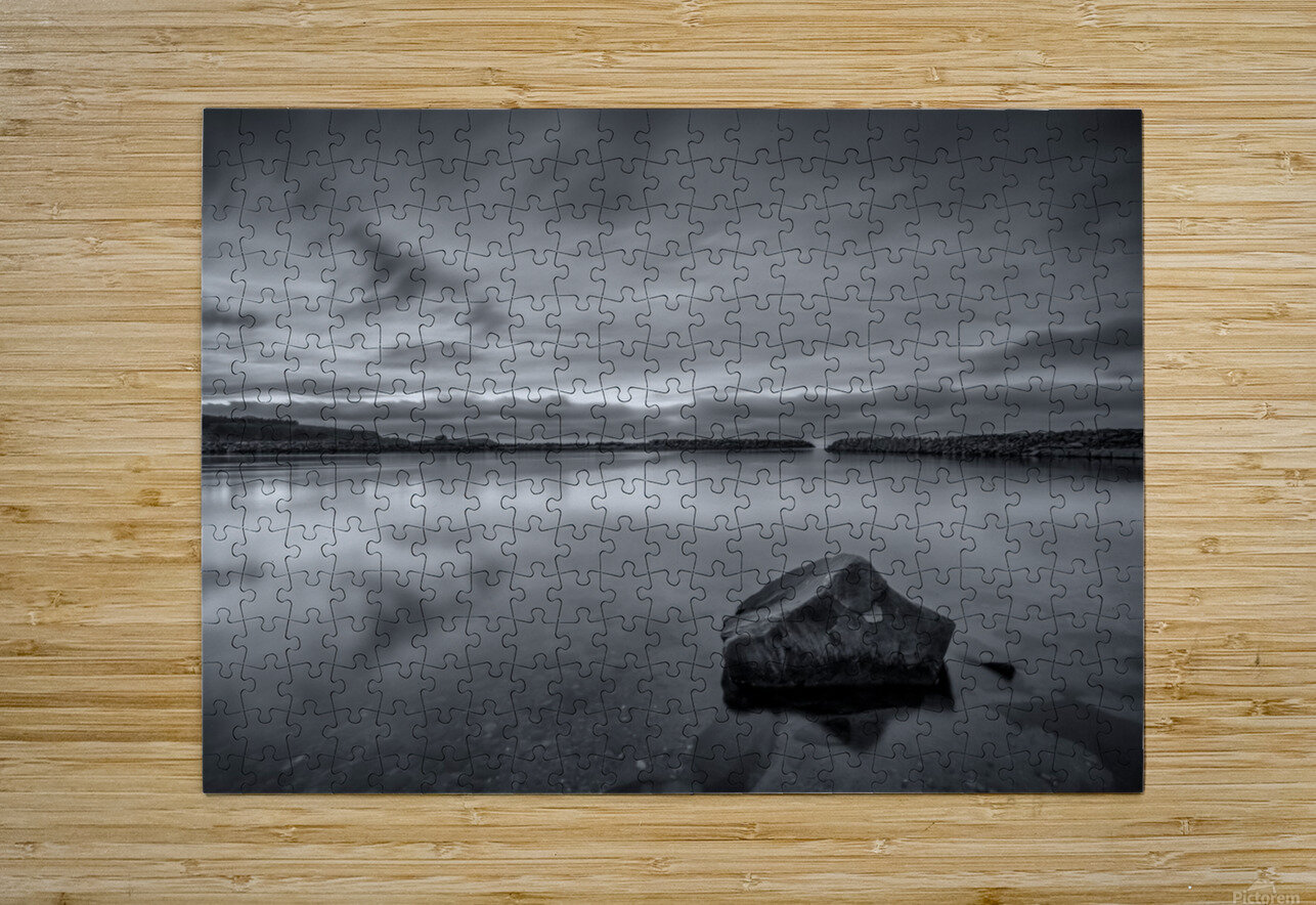 Inside the Harbour - bw  HD Metal print with Floating Frame on Back