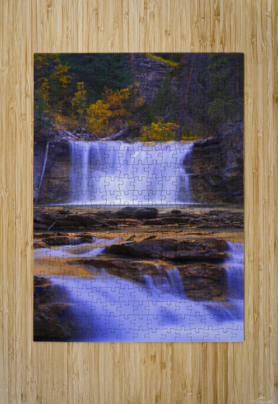 Johnston Canyon In Banff National Park, Alberta, Canada  HD Metal print with Floating Frame on Back