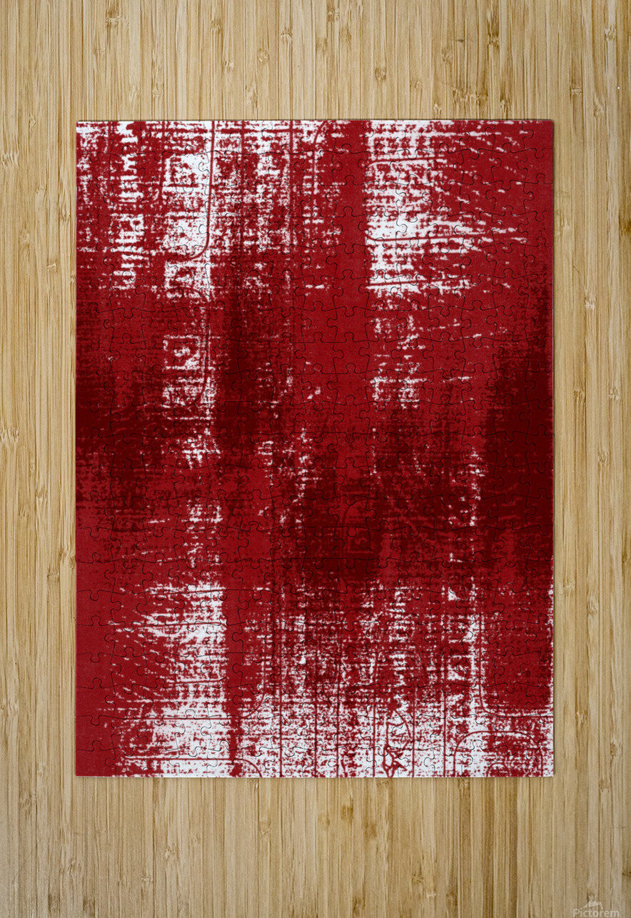 Red Texture  HD Metal print with Floating Frame on Back