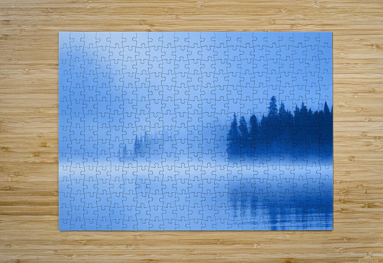 Foggy Lake  HD Metal print with Floating Frame on Back