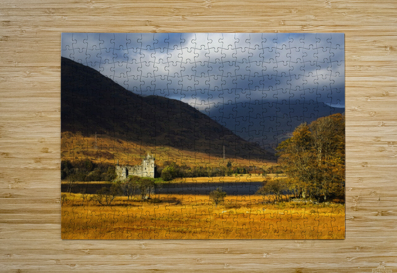 Kilchurn Castle, Loch Awe, Scotland  HD Metal print with Floating Frame on Back