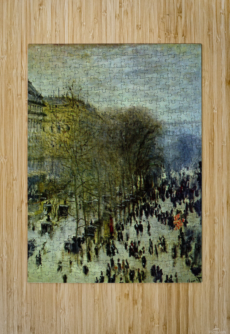 Boulevard of Capucines by Monet  HD Metal print with Floating Frame on Back