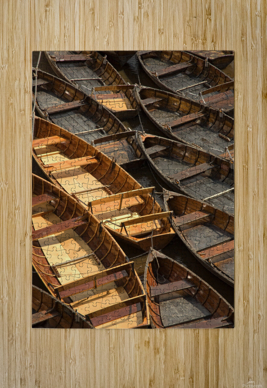 Wooden Boats  HD Metal print with Floating Frame on Back