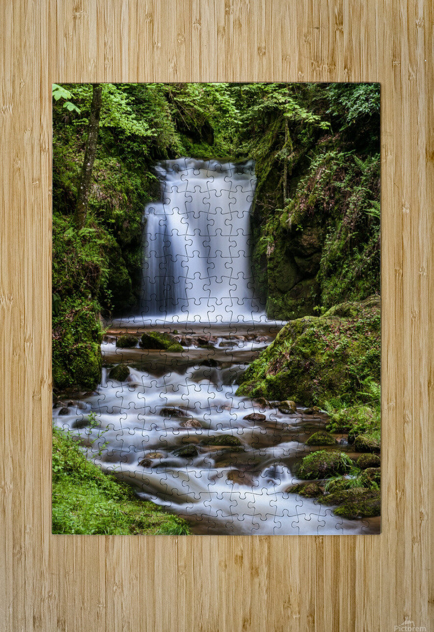 Watefall in the Black Forest in Germany  HD Metal print with Floating Frame on Back