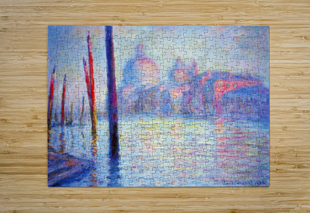 Canal Grand by Monet  HD Metal print with Floating Frame on Back