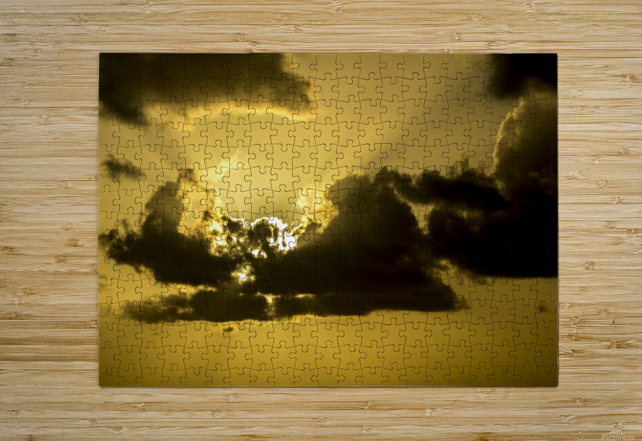 Breaking Sun  HD Metal print with Floating Frame on Back