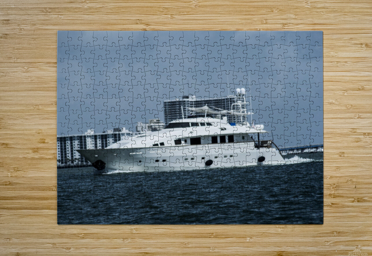 Yacht  HD Metal print with Floating Frame on Back
