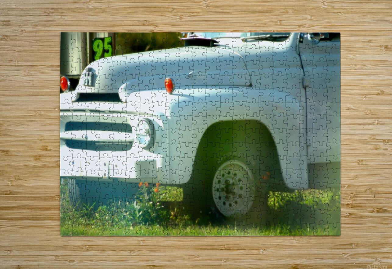 Old Truck 2  Impression métal HD avec cadre flottant sur le dos