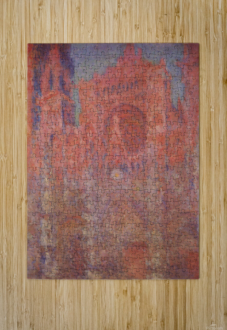 Claude_Monet - Rouen Cathedral Facade  HD Metal print with Floating Frame on Back
