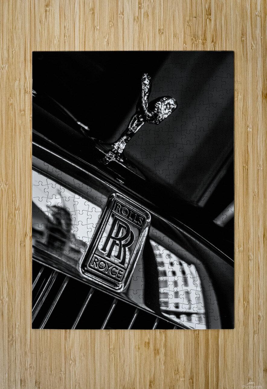 Rolls Emblem  HD Metal print with Floating Frame on Back