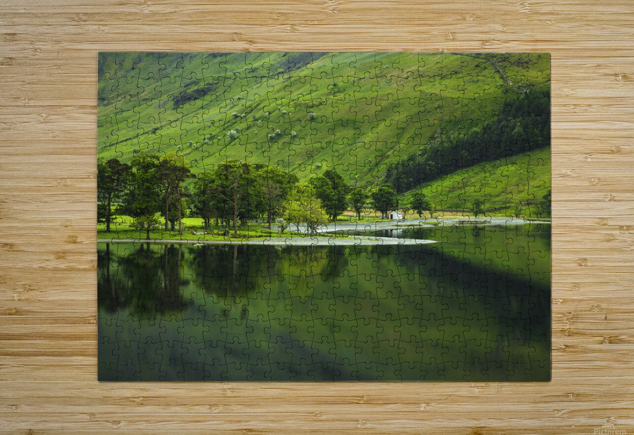 Green Peace, Buttermere, UK  HD Metal print with Floating Frame on Back