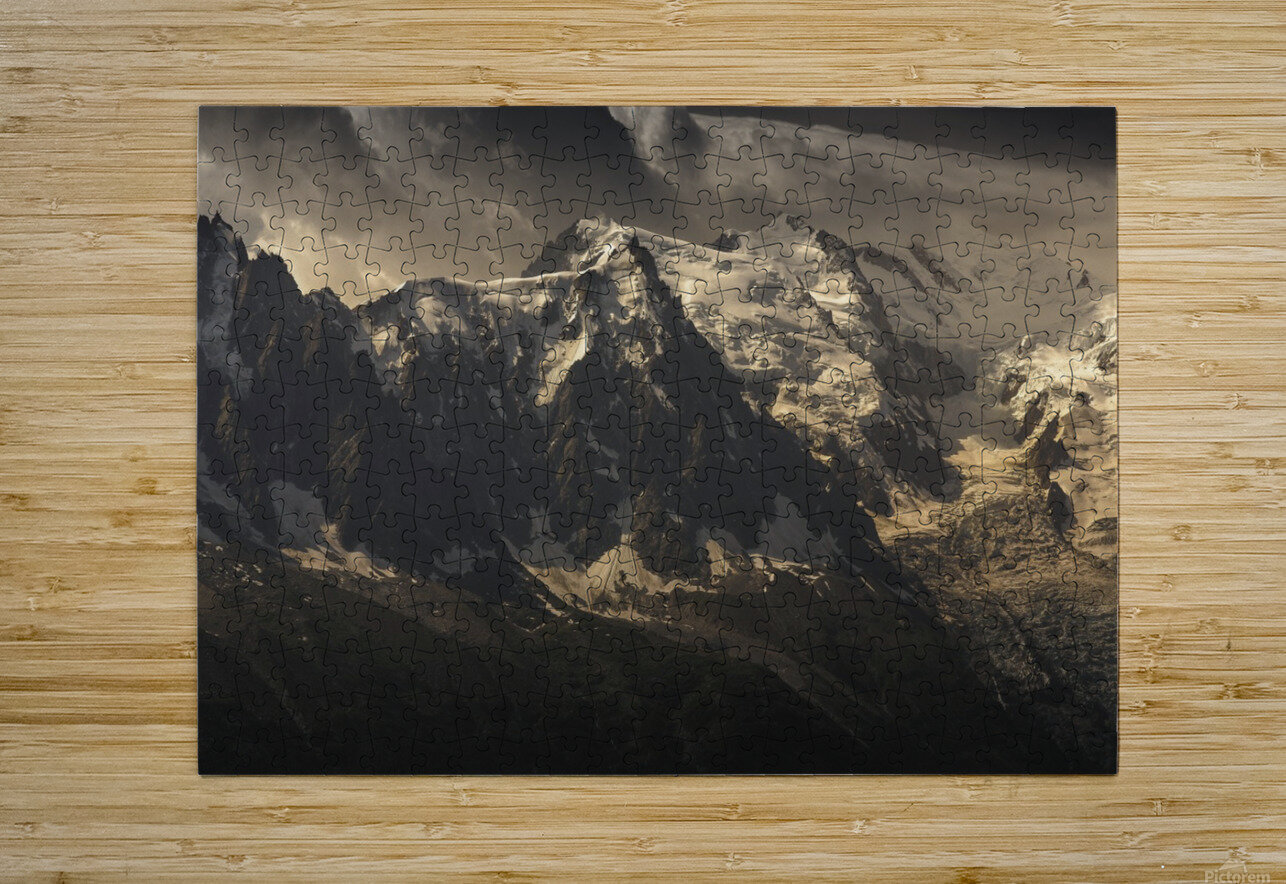 Aiguille du Midi and Mont Blanc, French Alps  HD Metal print with Floating Frame on Back