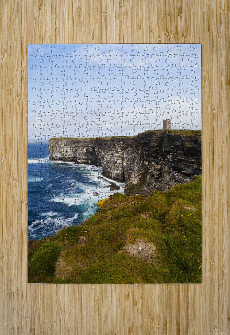 Marwick Head RSPB Nature Reserve, Kitcheners Monument; Orkney, Scotland  HD Metal print with Floating Frame on Back