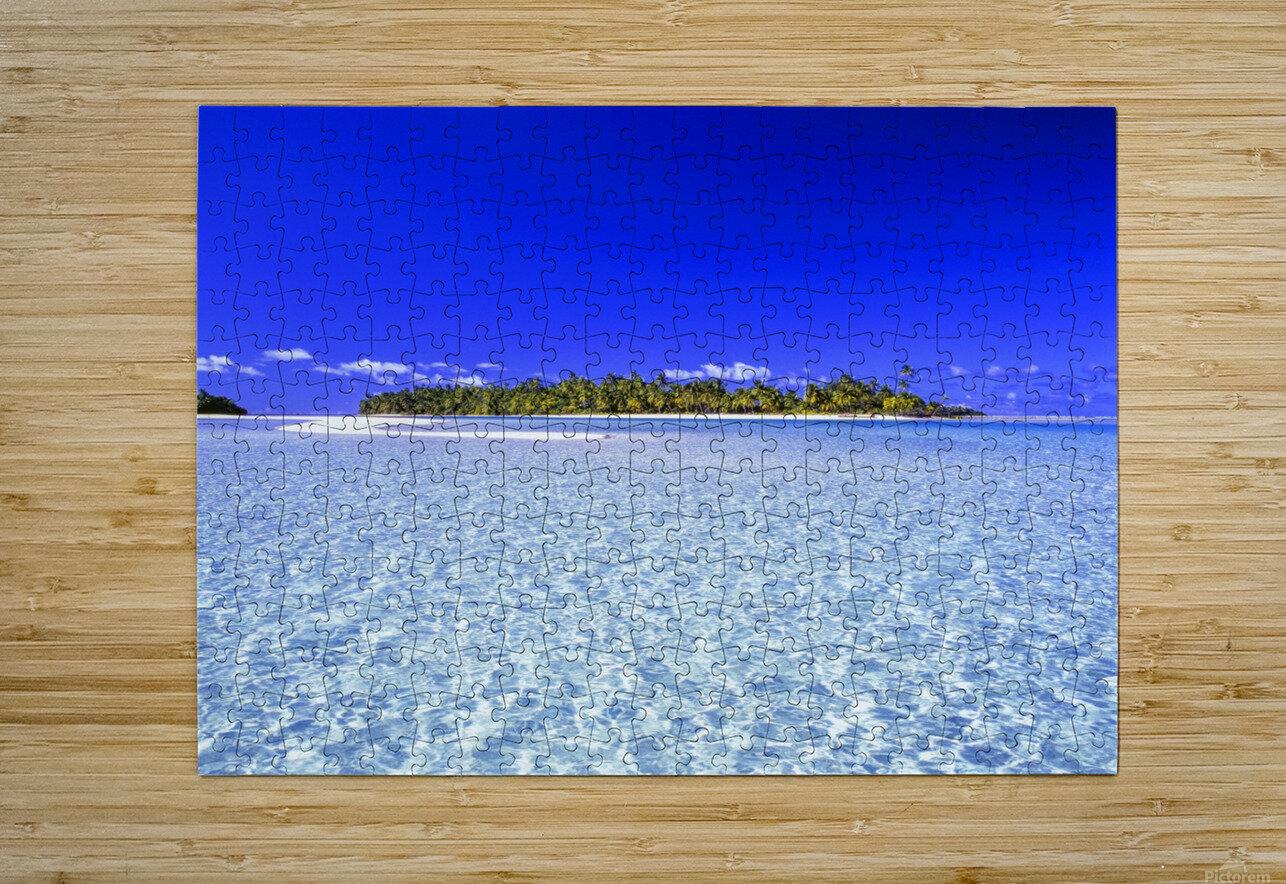 One Foot Island, Aitutaki; Aitutaki, Cook Islands  HD Metal print with Floating Frame on Back