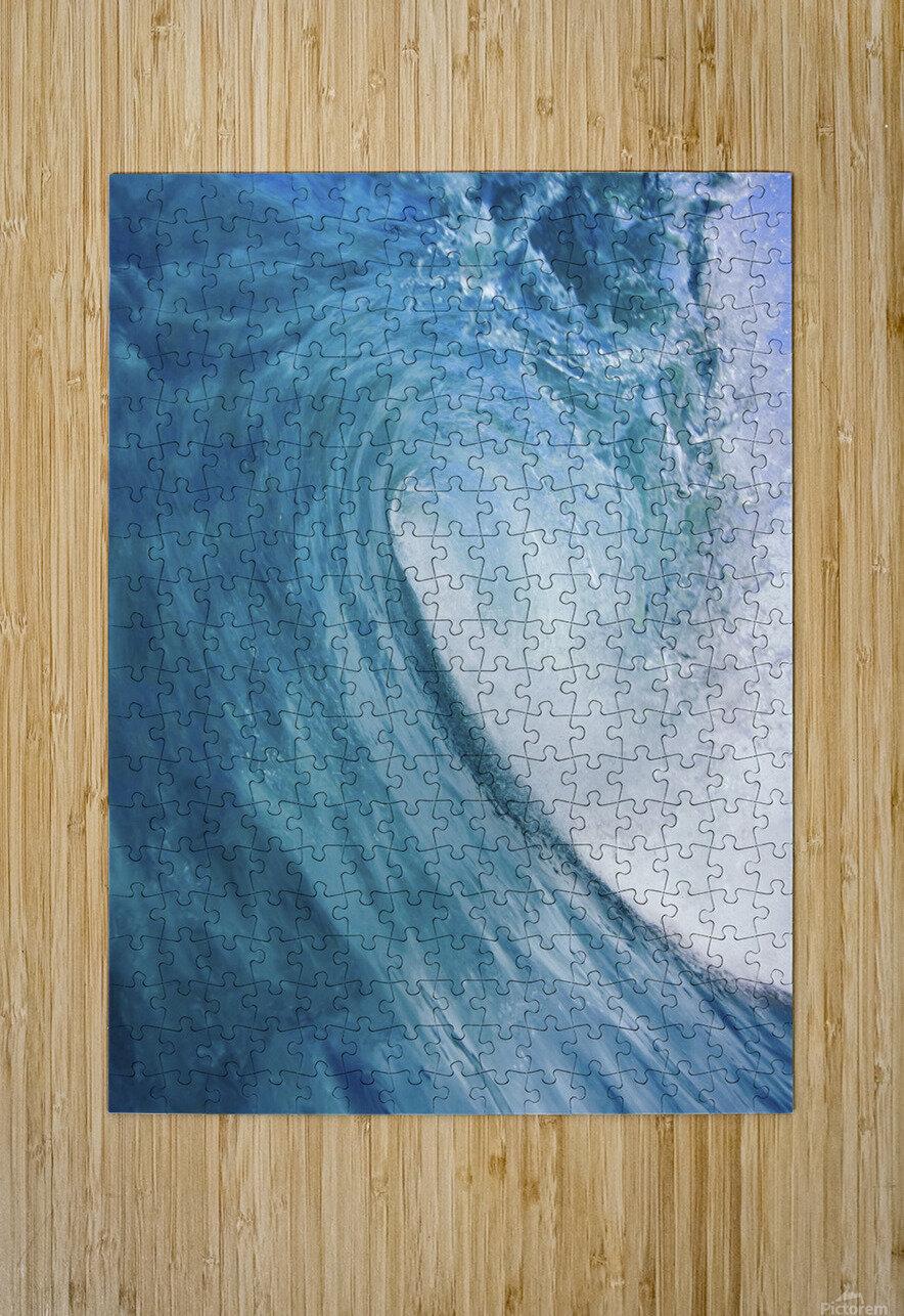 Blue Ocean Wave  HD Metal print with Floating Frame on Back