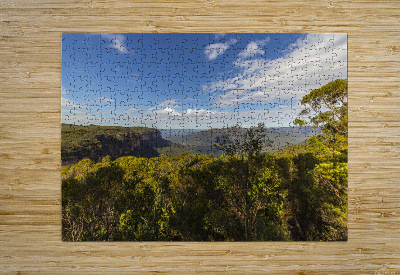 Blue Mountains  HD Metal print with Floating Frame on Back