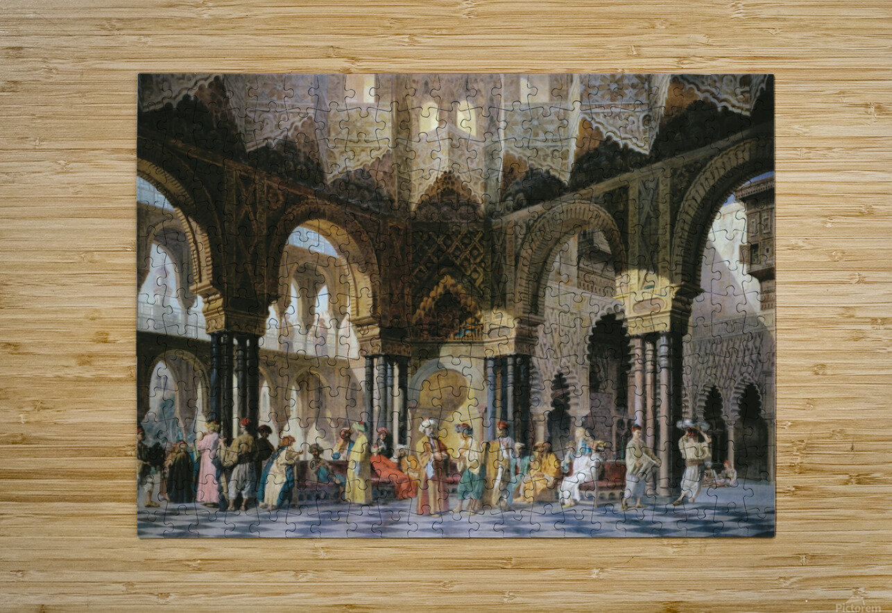 Interior of an oriental mosque  HD Metal print with Floating Frame on Back
