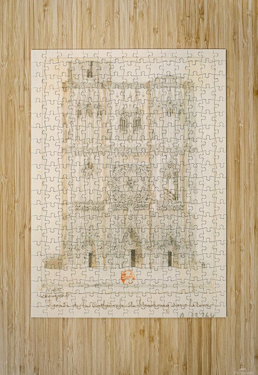 Facade de la cathedrale de Strasbourg  HD Metal print with Floating Frame on Back