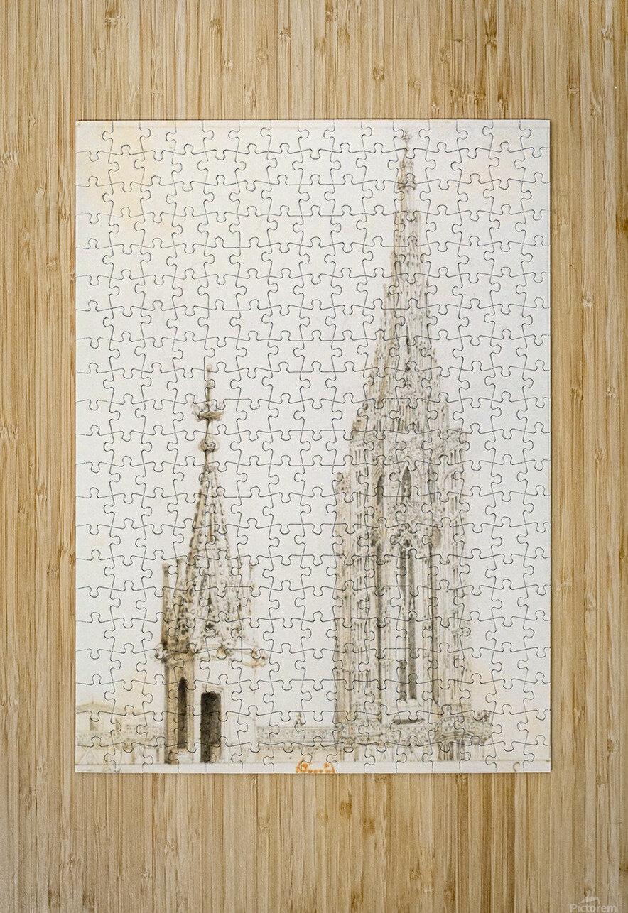 Tour et fleche de la cathedrale de Strasbourg  HD Metal print with Floating Frame on Back