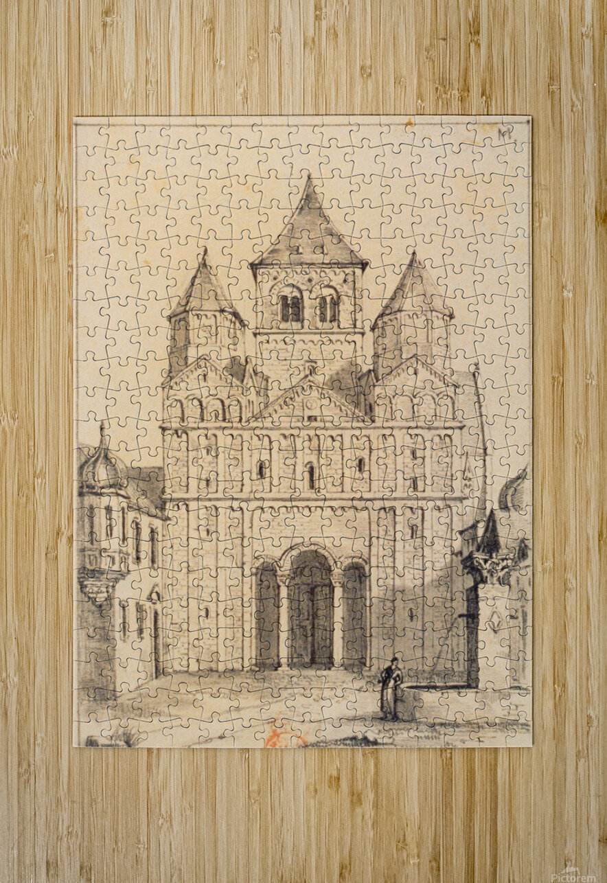 Eglise de Marrmoutier  HD Metal print with Floating Frame on Back