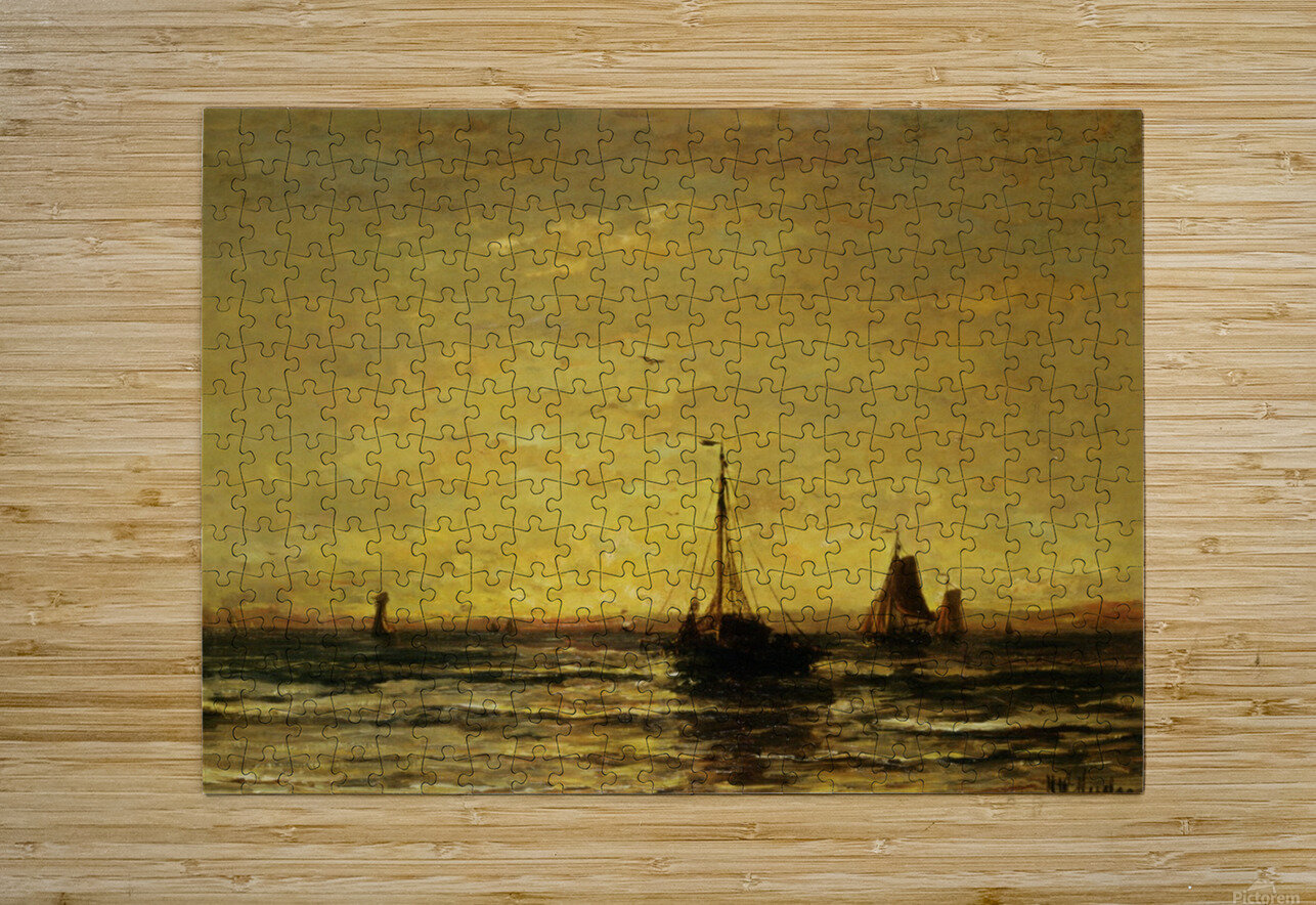 The Return of the Fleet at Sunset  HD Metal print with Floating Frame on Back