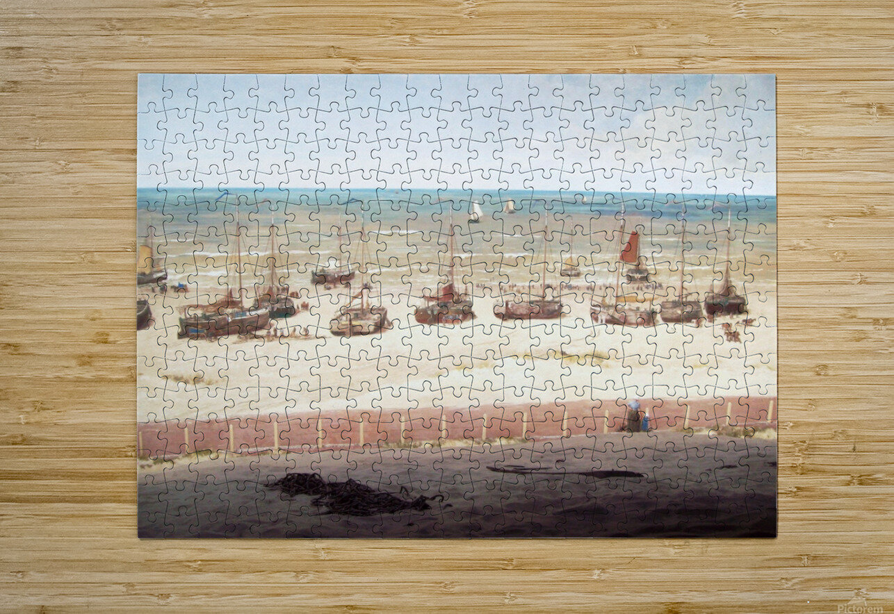 Scheveningen in 1880  HD Metal print with Floating Frame on Back