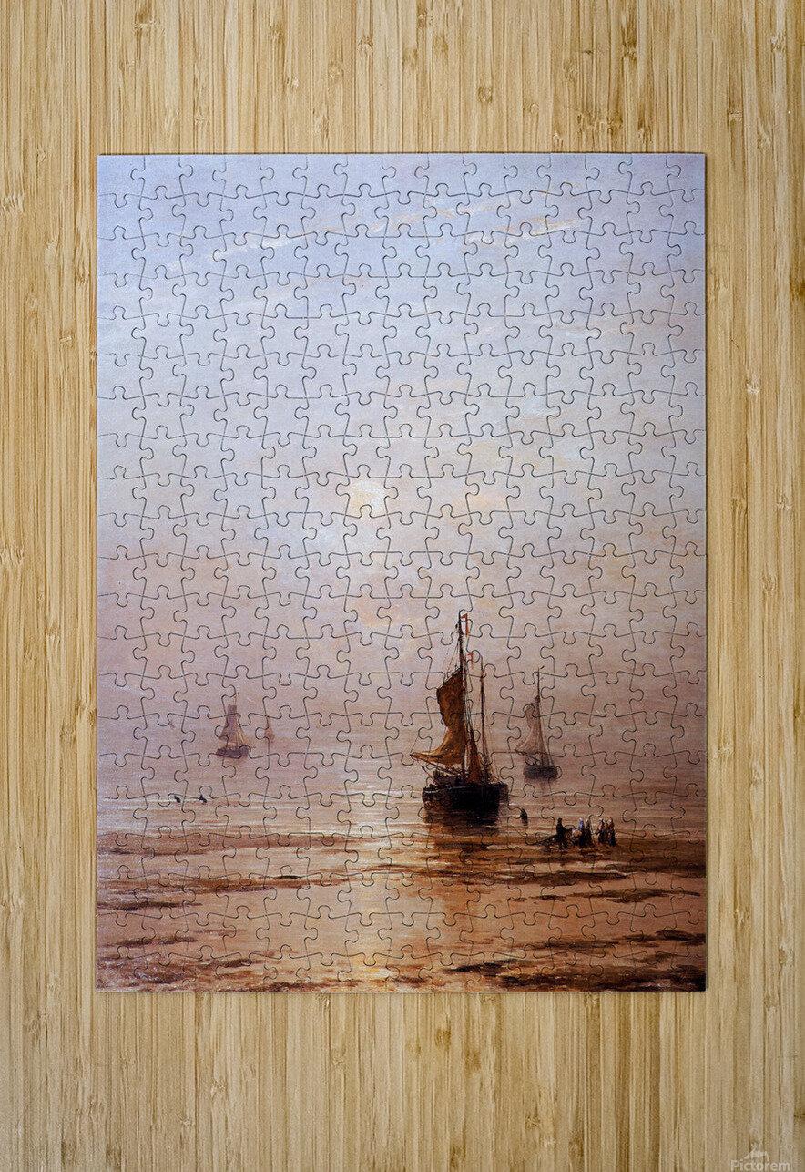 Summer Evening Scheveningen Sun  HD Metal print with Floating Frame on Back