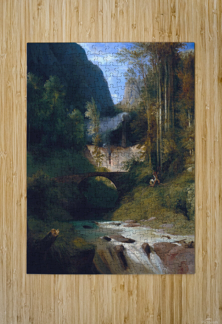 Schlucht bei Amalfi, 1831  HD Metal print with Floating Frame on Back