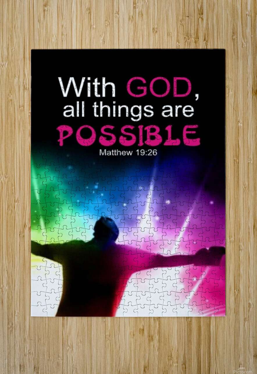 All things Possible  HD Metal print with Floating Frame on Back