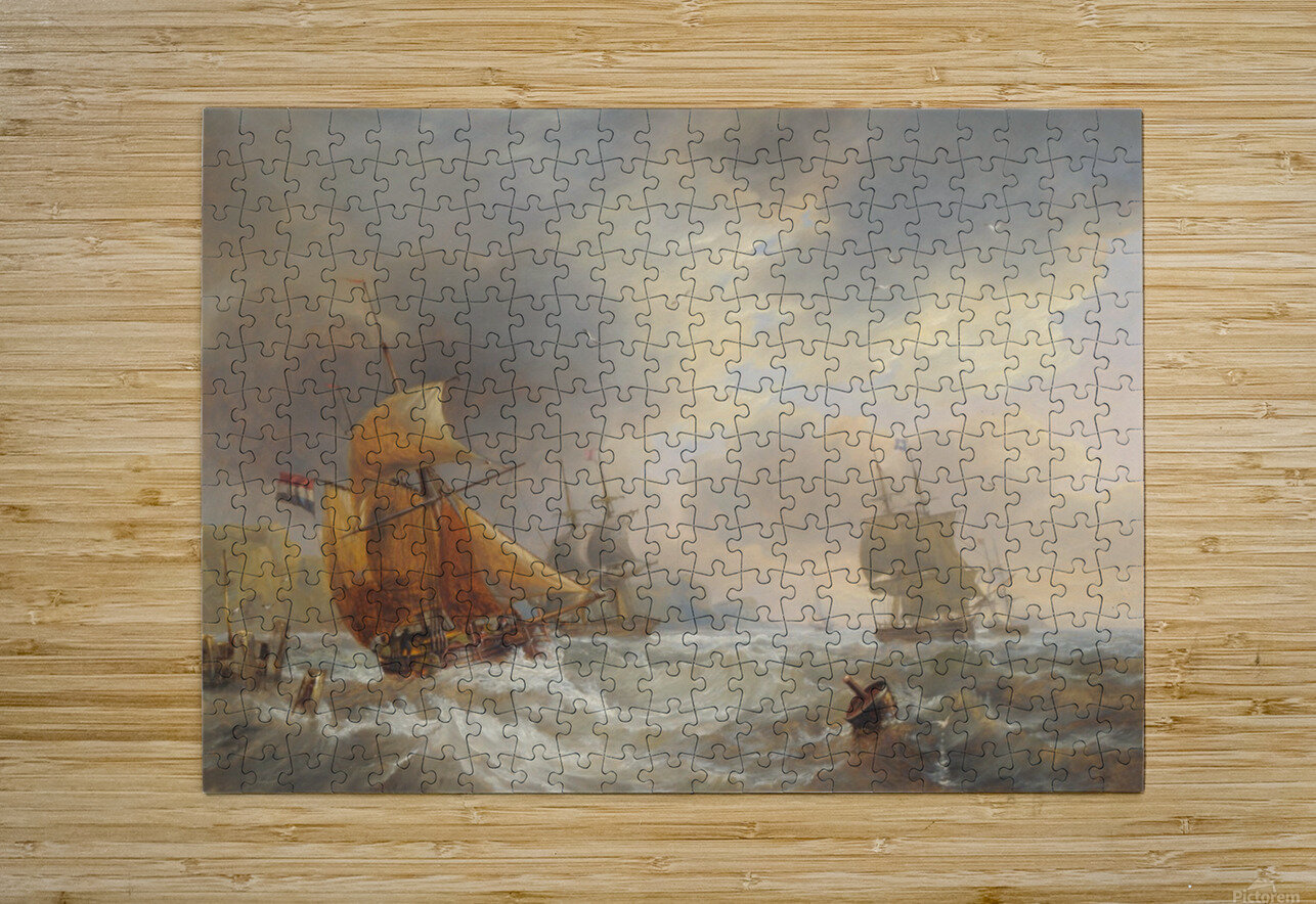A stormy day of the sea  HD Metal print with Floating Frame on Back