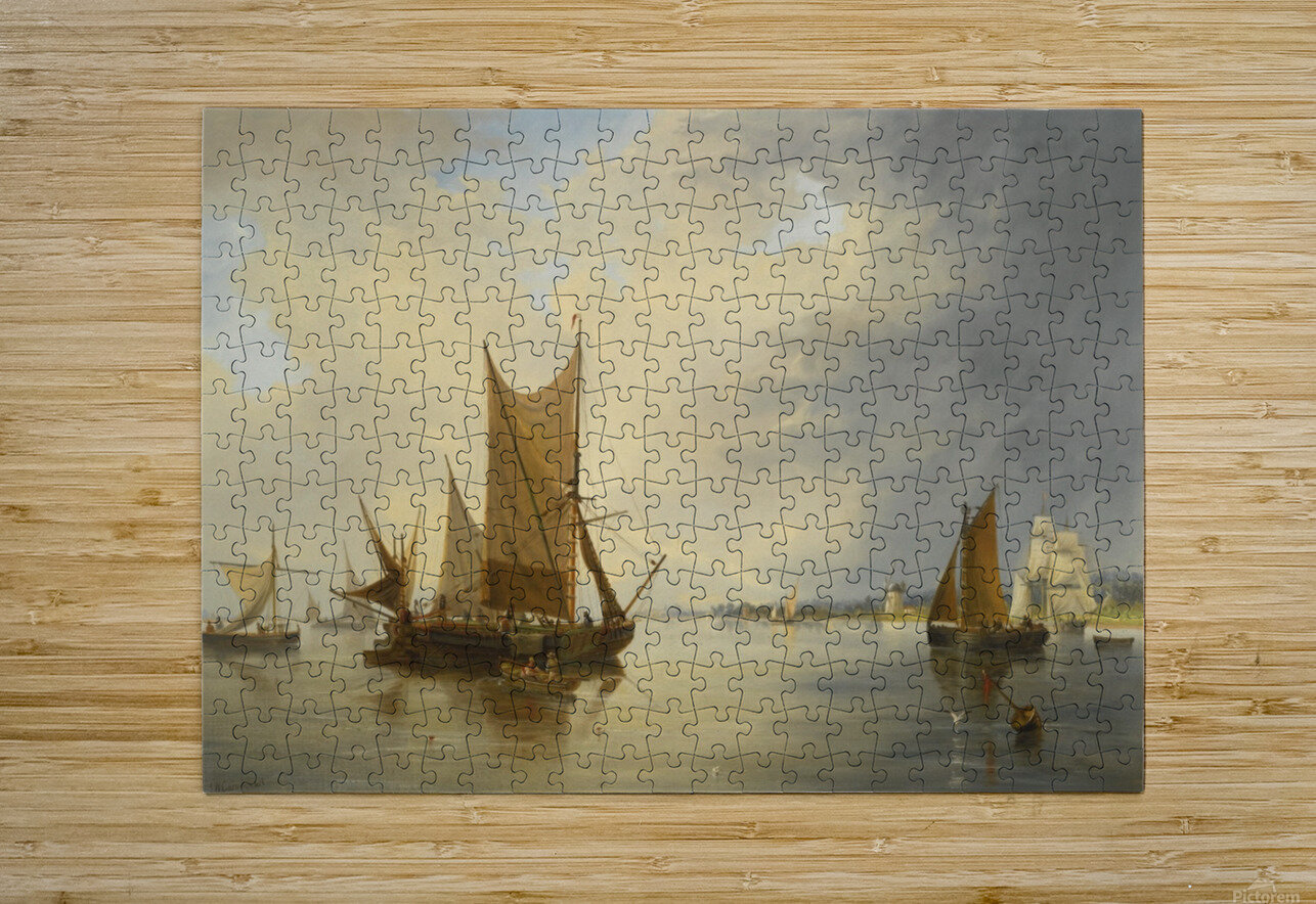 Sailing on the sea  HD Metal print with Floating Frame on Back