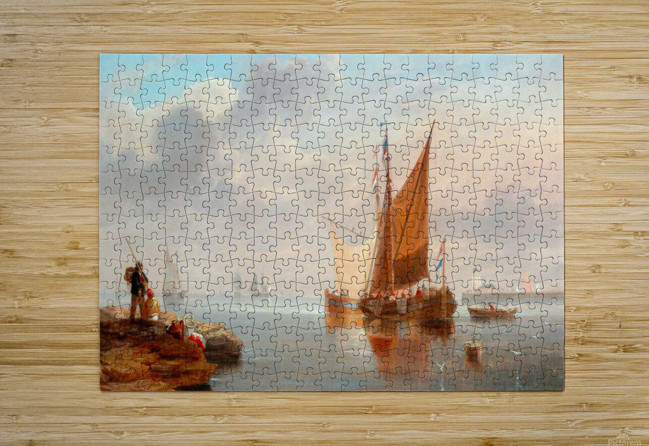 Dutch Fishing Boats  HD Metal print with Floating Frame on Back
