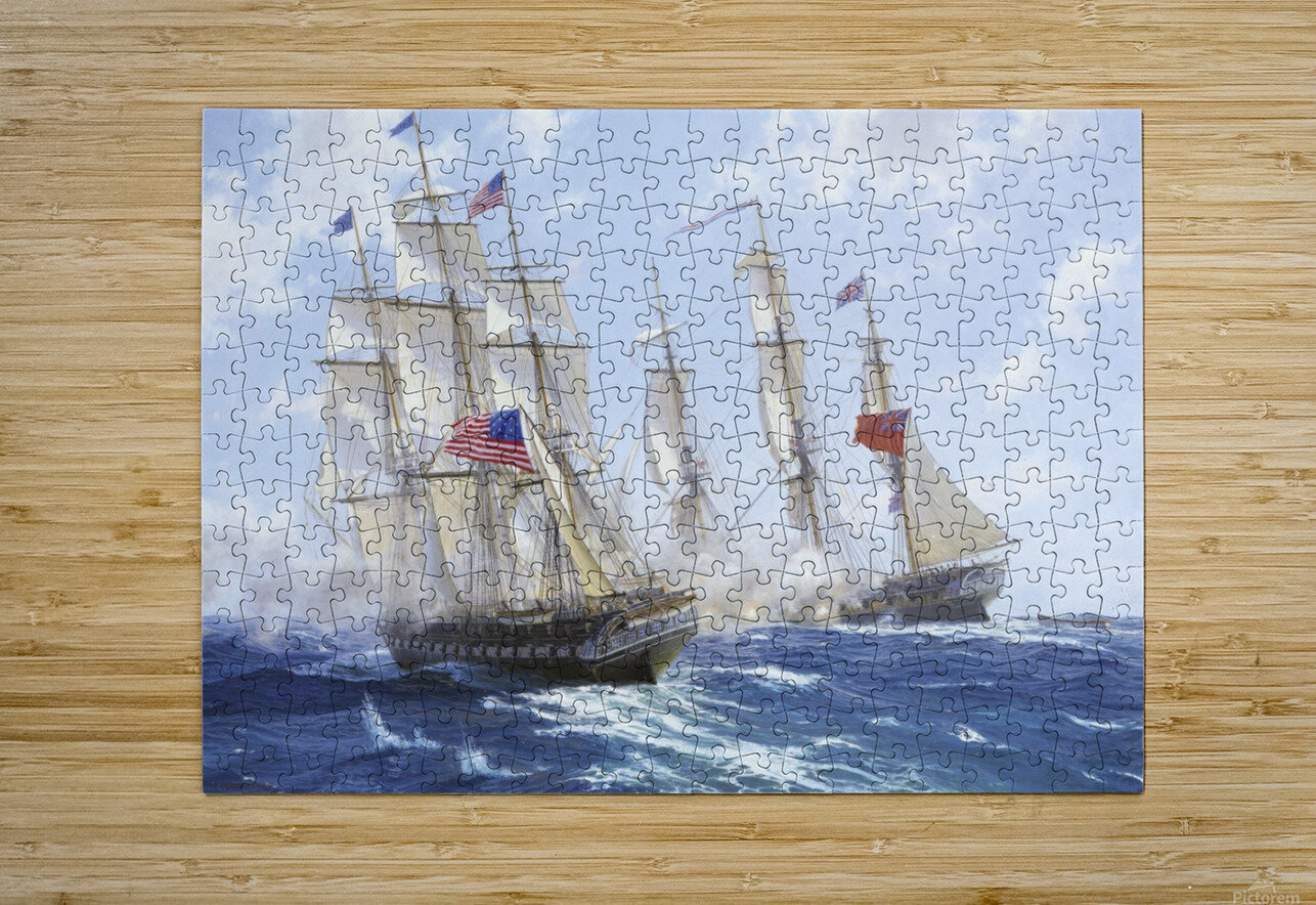 American boats by the sea  HD Metal print with Floating Frame on Back