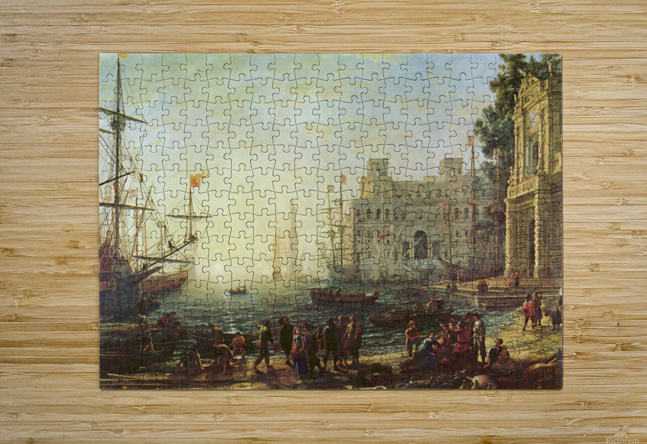 Seaport with the Villa Medici  HD Metal print with Floating Frame on Back