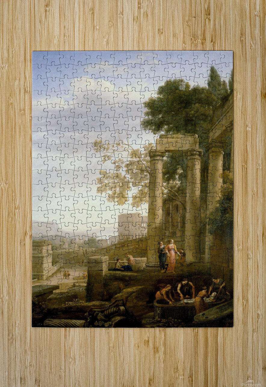 Landscape with Burial of St. Serapia  HD Metal print with Floating Frame on Back