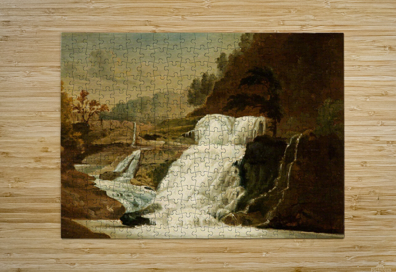 Waterfall in the Neath Valley  HD Metal print with Floating Frame on Back