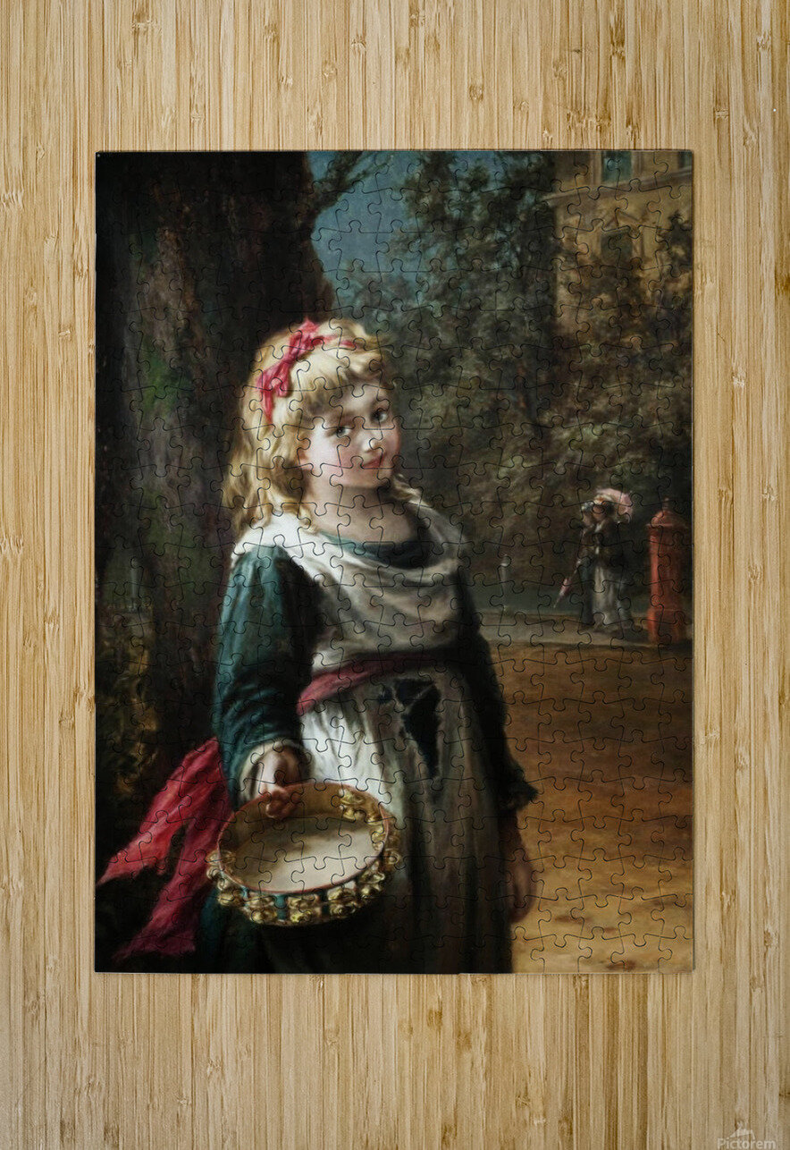 A young blonde girl  HD Metal print with Floating Frame on Back