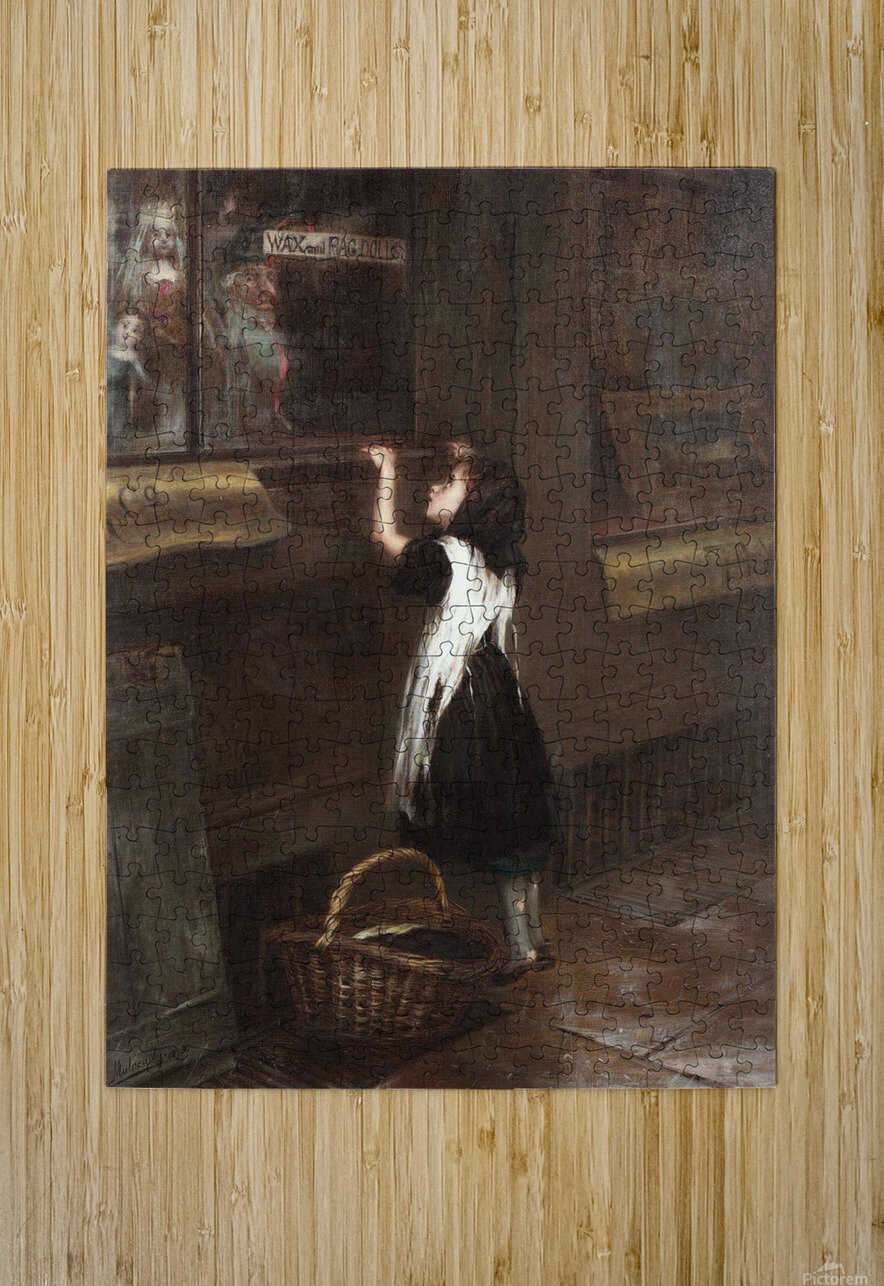 A girl in a black dress  HD Metal print with Floating Frame on Back