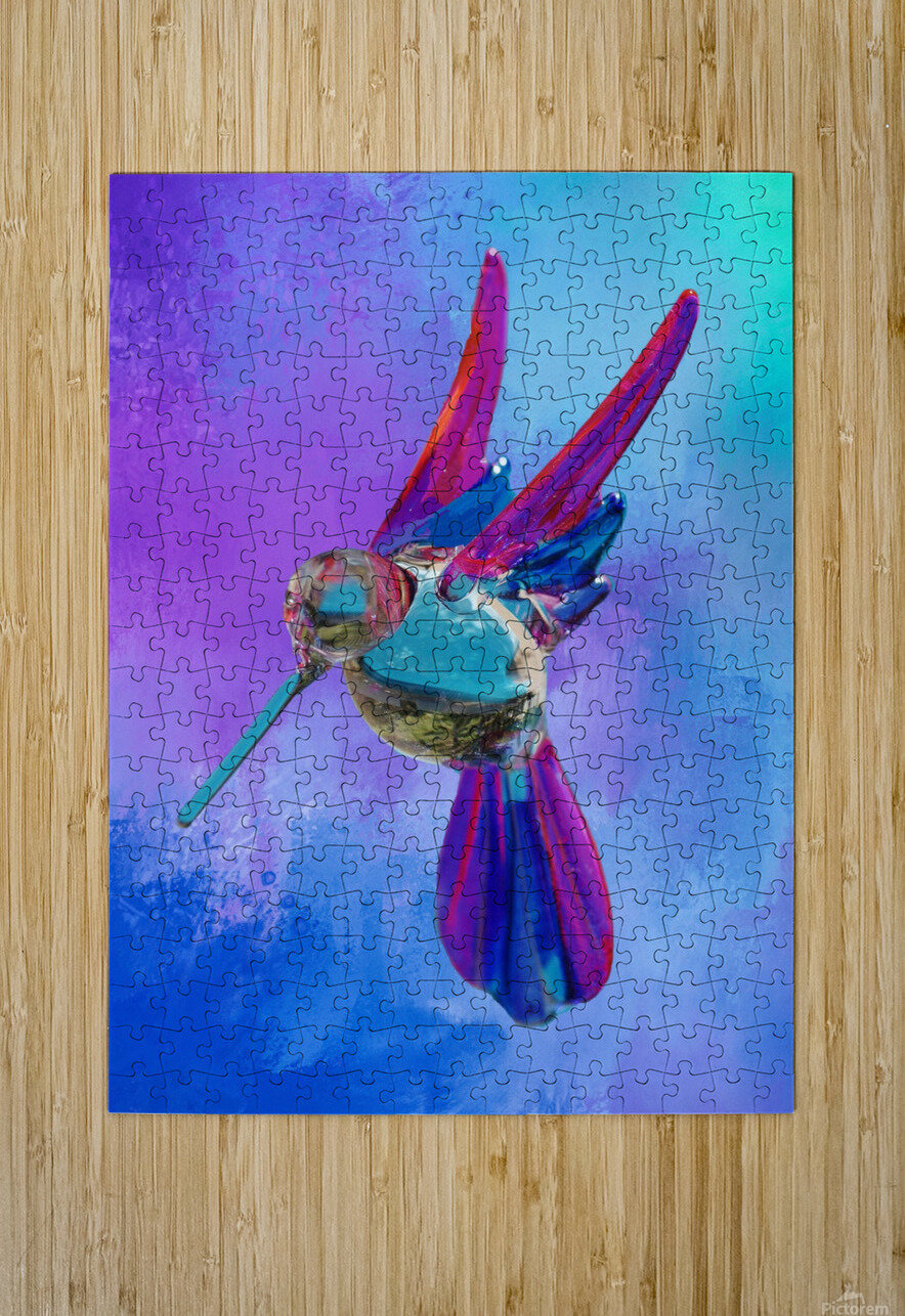 Glass Bird Abstract   HD Metal print with Floating Frame on Back