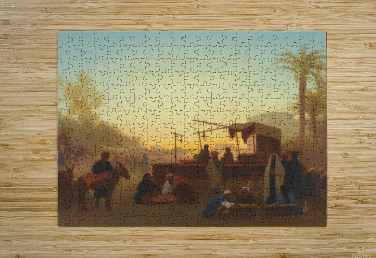 Marche au Caire  HD Metal print with Floating Frame on Back